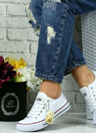 Белые кеды кроссовки star!6 фото