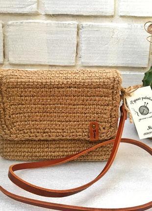 Милая плетеная эко  сумка, сумочка