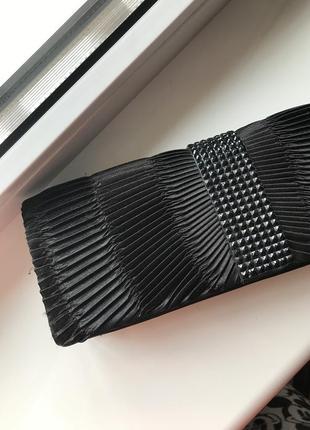 Чёрный вечерний клатч сумка