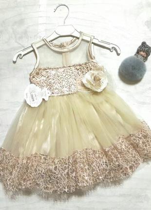Нарядное платье на девочкк1 фото