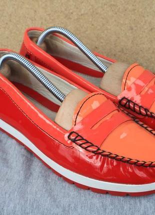 Лоферы geox кожа италия 39р туфли мокасины
