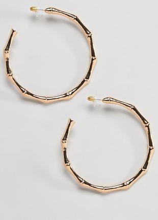 Большие серьги-кольца designb london asos сережки бижутерия