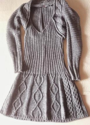 Шерстяной костюм комплект платье и болеро morgan