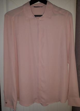Стильная блуза пудрового цвета