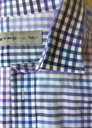 Брендовая мужская рубашка etro, р.43