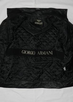 Байкерская куртка armani. размер xxl