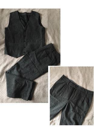 1+1=3! костюм тройка из итальянской шерсти ручная работа!5 фото