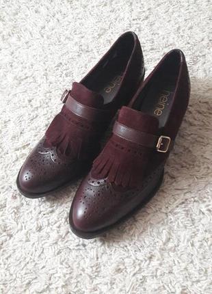 Туфли оксфорды лоферы heine