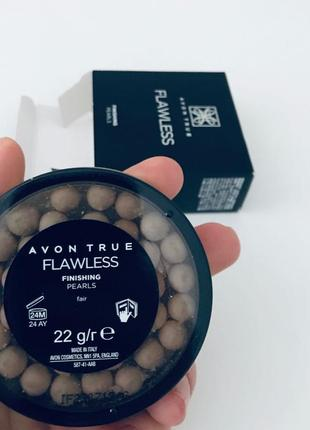 Матирующая пудра-шарики для лица avon true flawless soft focus finishing pearls