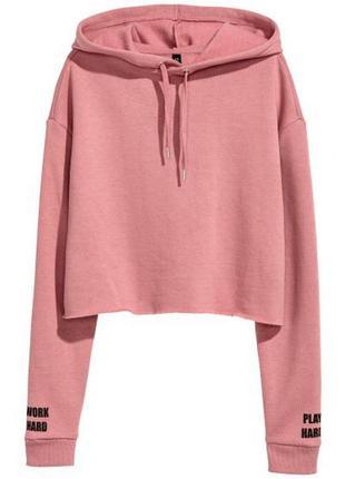 Крутой укороченный худи,розовый пудровый худи,свитшот,кенгурушка,худи оверсайз с надписью
