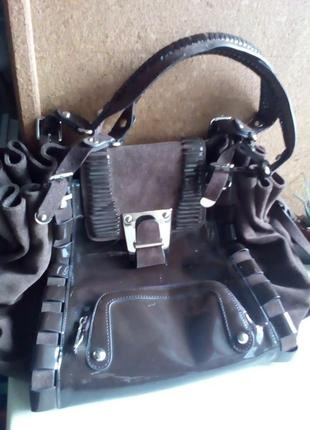 Замшевая сумка versace