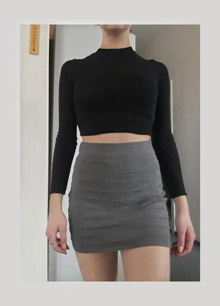 Базовая серая юбка amisu