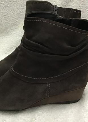Сапожки ботинки gabor замш 41р
