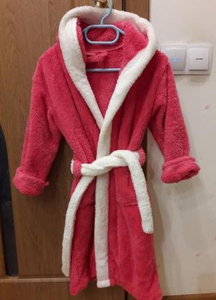Махровый халат на девочку 7-10 лет
