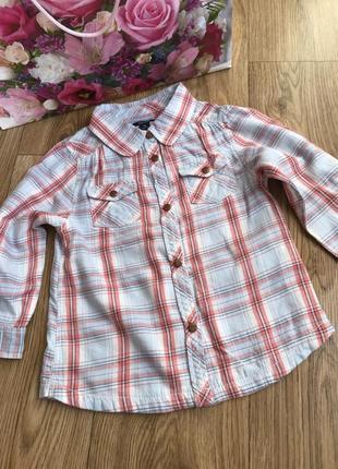 Стильная рубашка в клеточку рукав с подворотом