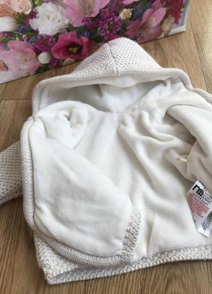 Качественная вязаная внутри плюшевая уютная тёплая толстовка кофта с капюшоном комбинезон