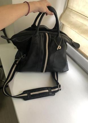 Кожаная сумка саквояж picard черная