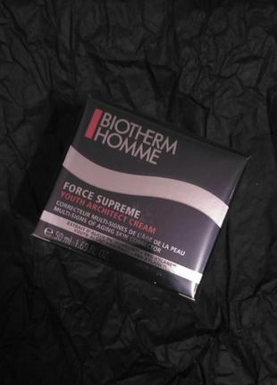 Крем для регенерации и восстановления кожи biotherm homme force supreme cream 50мл
