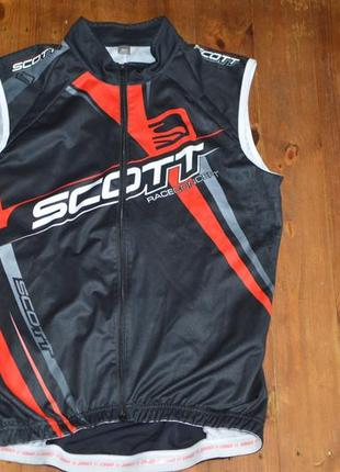 Виндстоппер, веложилет, велоджерси, велоформа scott race concept