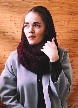 Шарф хомут/ вязанный шарф