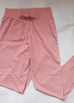 Розовые пижамные штаны, брюки на манжетах new look