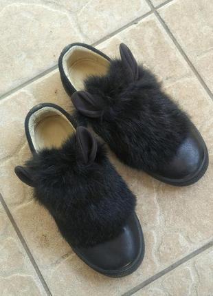 Кожаные туфли для девочки