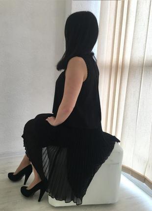 Шелковое платье с плиссированной юбкой interdee (франция)