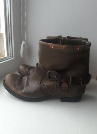 100% кожа супер стильные итальянские ботинки l'idea italy leather boot
