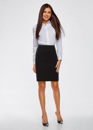 Классическая чёрная юбка на талию h&m