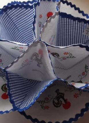 Изумительная тройная салфетка конфетница салфетница ручная работа португалия