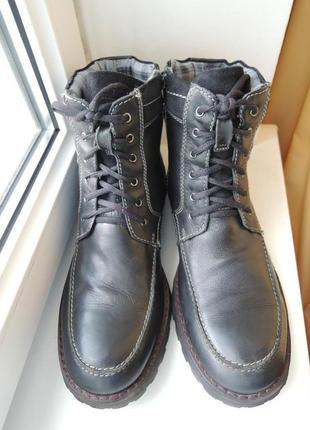 Кожаные ботинки bugatti (германия) р.46-47 (31 см)