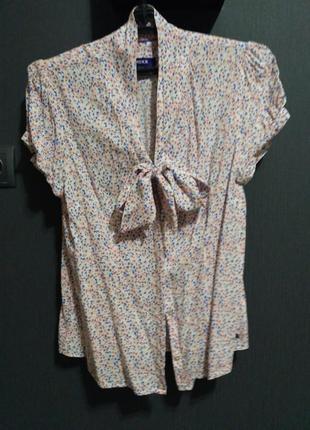 Блузка мехх с бантом