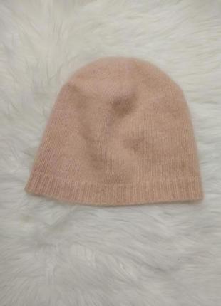 Мягенькая ангоровая шапка для девочки от h&m, примерно на 2-4 года