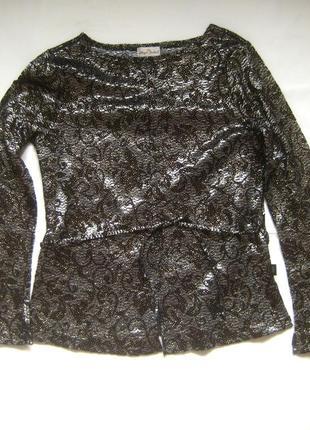 Нарядная блуза в серебристо-золотистом оттенке