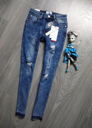 164р джинсы рваные d-xel