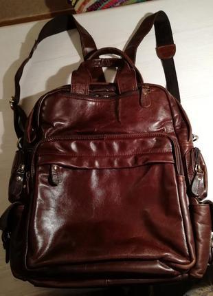 Продам кожаный рюкзак/сумку