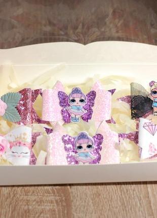 Розовый набор украшений для девочки в подарочной упаковке