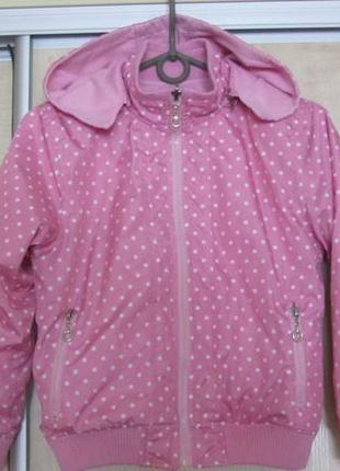 Двусторонняя  розовая курточка