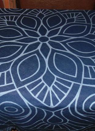 Круглая джинсовая скатерть