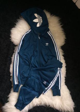Спортивный костюм цвет морской волны адидас adidas