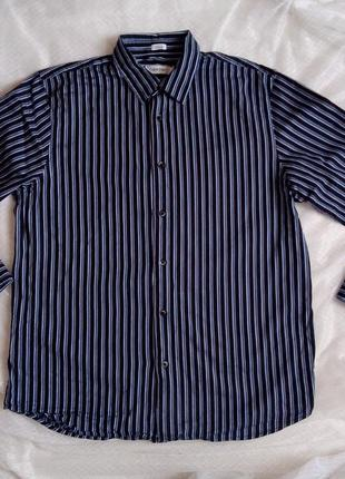 Стильная мужская рубашка в полоску оригинал р л с рукавом