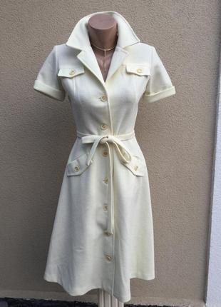 Винтаж,платье-халат на застежке,под пояс,rodney