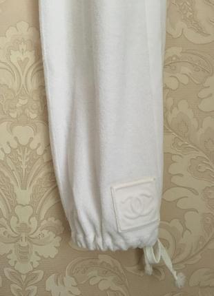 db75e1f0167bb Chanel оригинал дизайнерские спортивные брюки штаны белые Chanel ...
