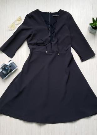 Элегантное черное платье от zara basic