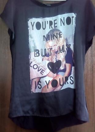 Шелковая футболка