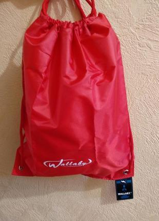 Рюкзак мешок школьный красный wallaby