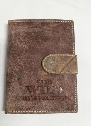 Мужской кожаный кошелек wild rmh-04l-cfl