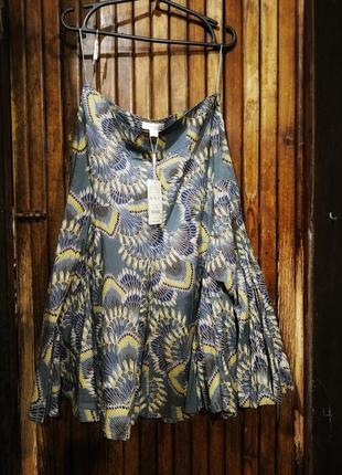 Великолепная юбка monsoon вискоза хлопок расклешенная этно бохо принт