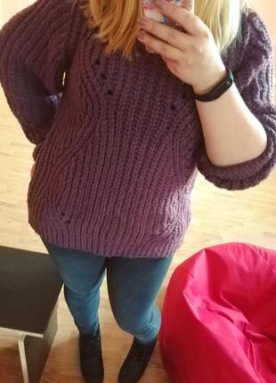 Свитер пуловер теплый оверсайз mango xl