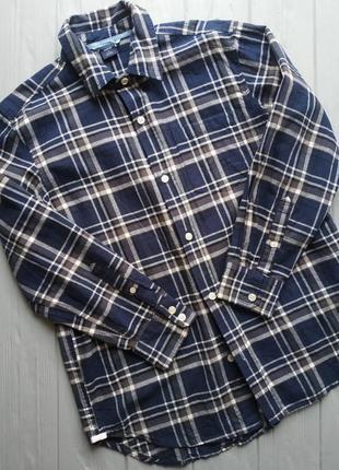 Коттоновая рубашка на мальчика 7-8 лет